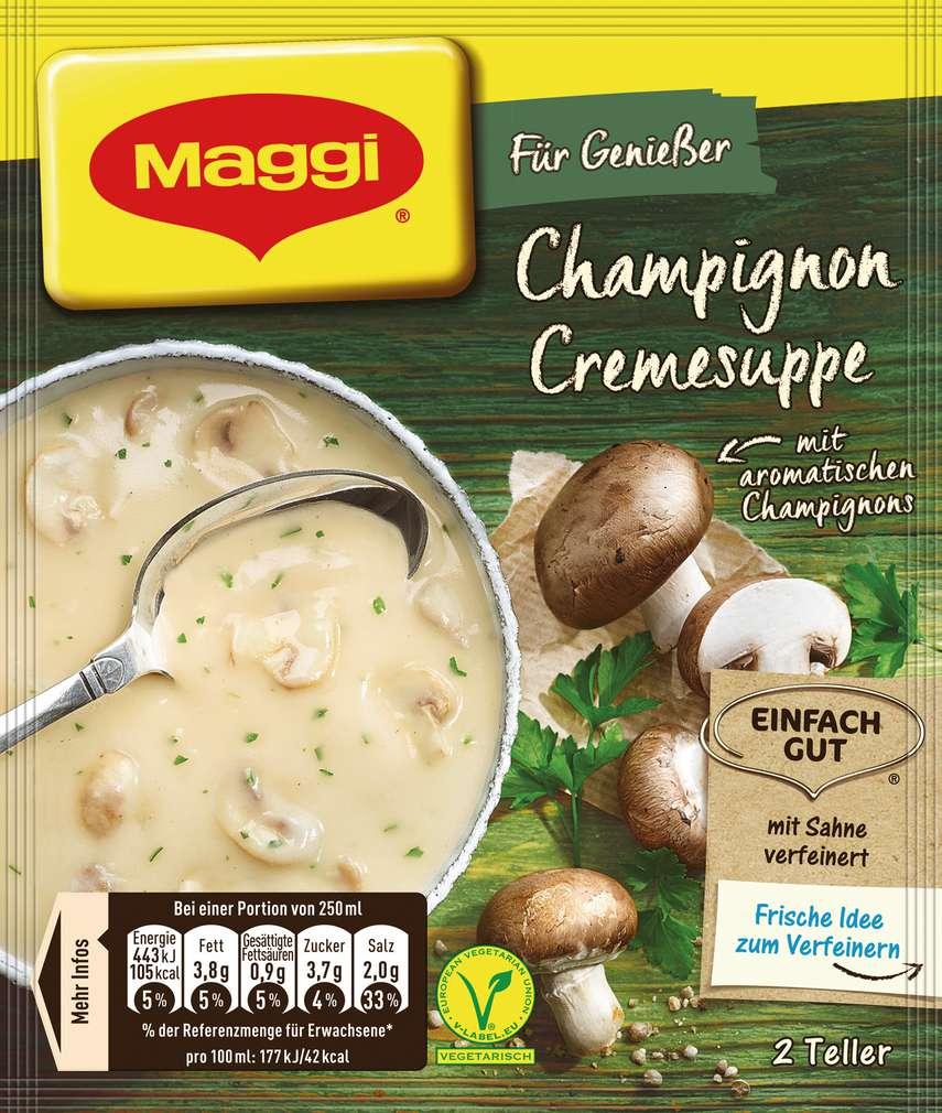 Abbildung des Sortimentsartikels Maggi Für Genießer Suppe Champignoncreme 51g