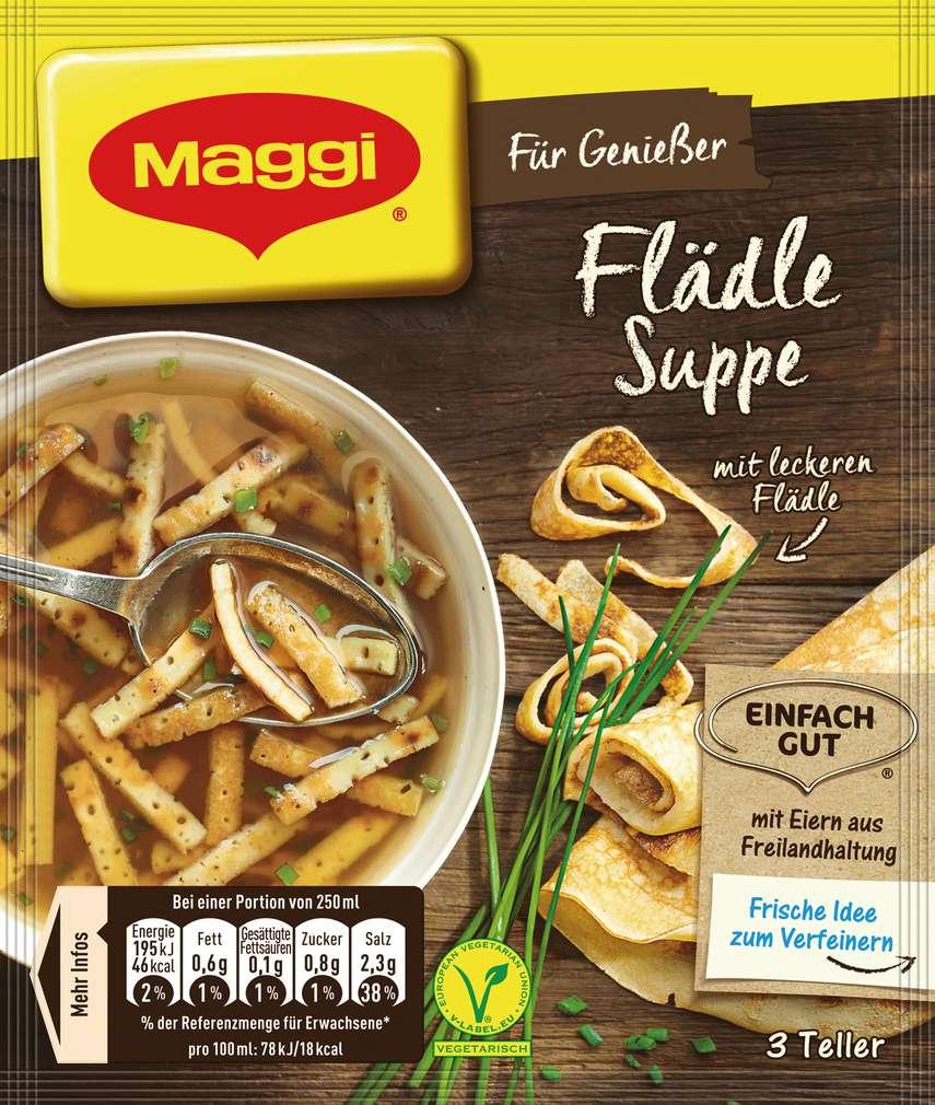 Abbildung des Sortimentsartikels Maggi Für Genießer Suppe Flädlesuppe 43g
