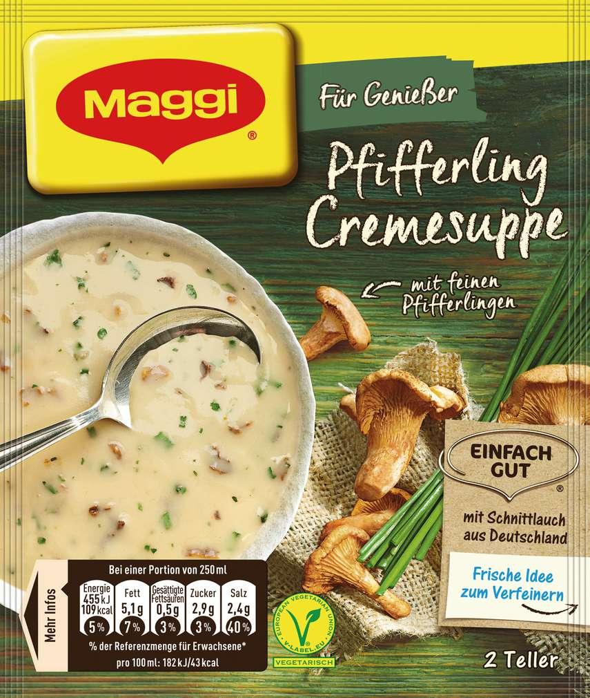 Abbildung des Sortimentsartikels Maggi Für Genießer Suppe Pfifferlingcreme 50g