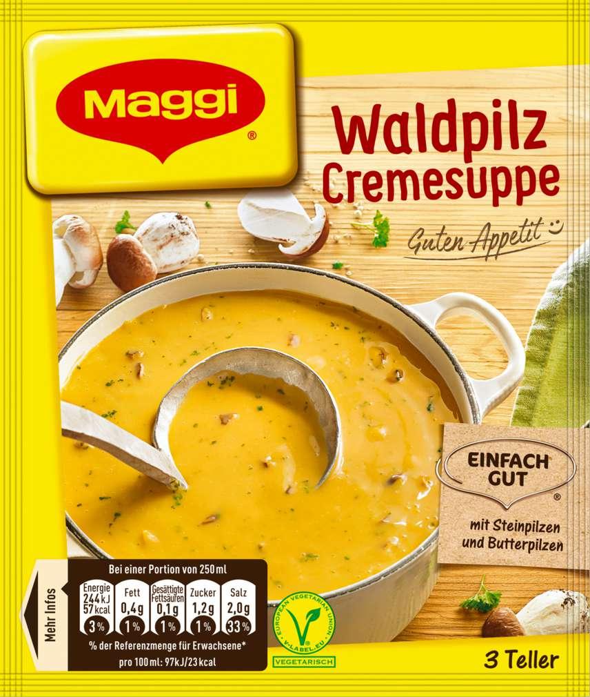 Abbildung des Sortimentsartikels Maggi Guten Appetit Suppe Waldpilzcreme ergibt 750ml