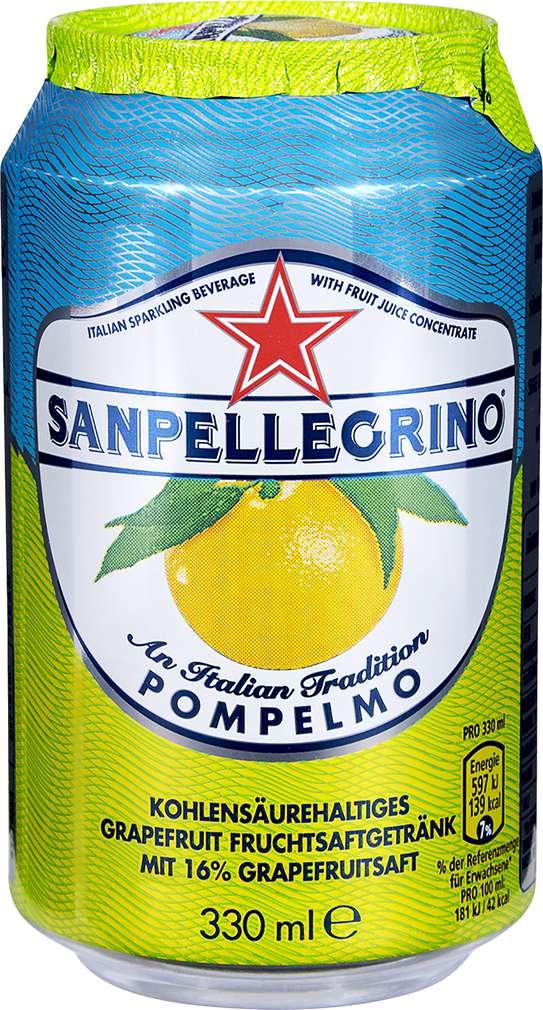 Abbildung des Sortimentsartikels Sanpellegrino Pompelmo 0,33l