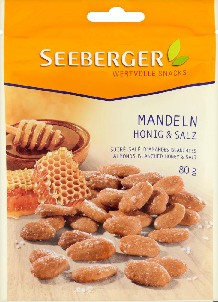 Abbildung des Sortimentsartikels Seeberger Mandeln Honig & Salz 80g