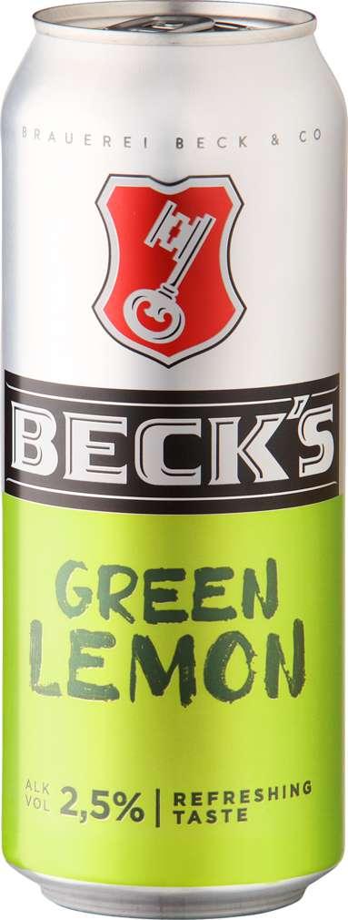 Abbildung des Sortimentsartikels Beck's Green Lemon 0,5l