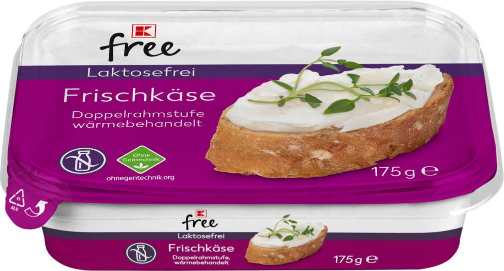 Abbildung des Sortimentsartikels K-Free Laktosefrei Frischkäse Natur laktosefrei 175g