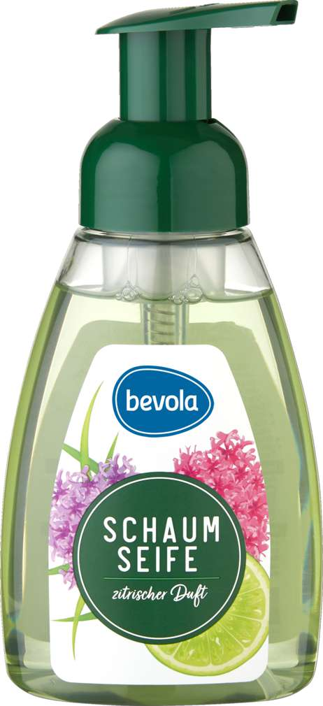 Abbildung des Sortimentsartikels Bevola Schaumseife Zitronengras & Verbena 300ml
