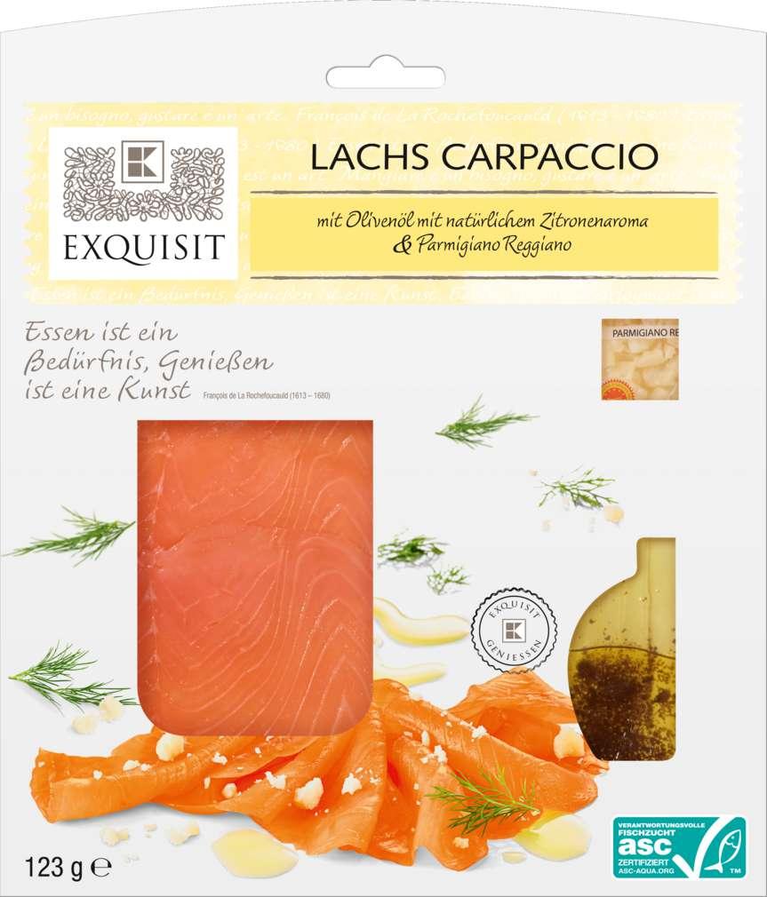 Abbildung des Sortimentsartikels Exquisit Lachs Carpaccio 123g