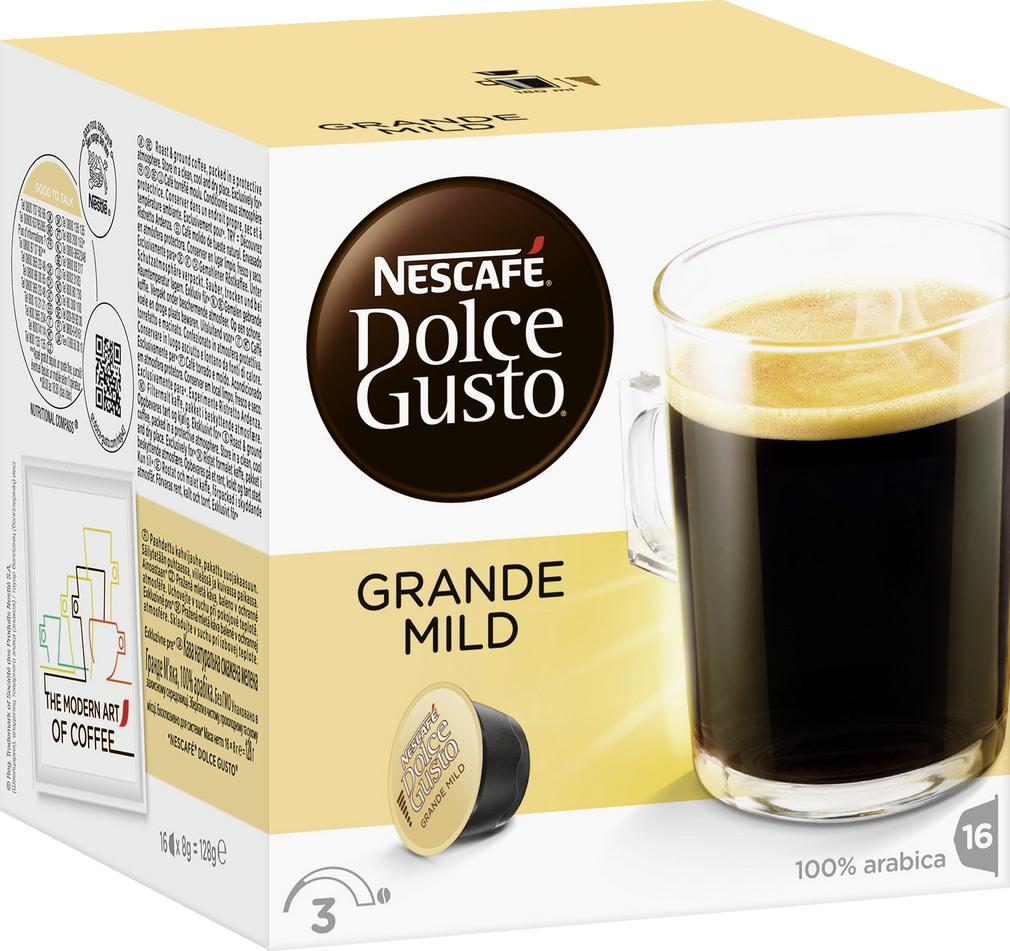 Abbildung des Sortimentsartikels Nescafé Dolce Gusto Grande Mild 128g, 16 Kapseln