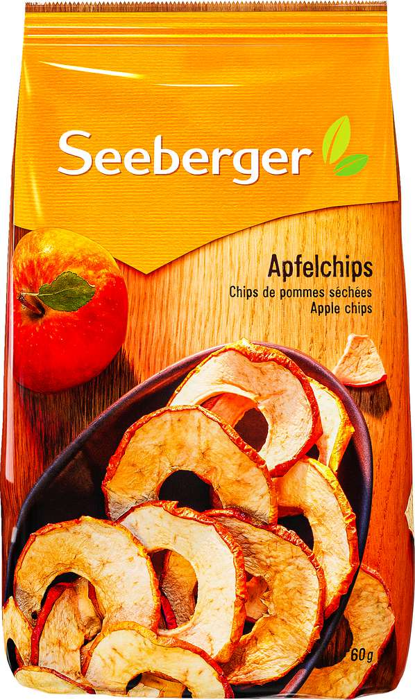 Abbildung des Sortimentsartikels Seeberger Apfelchips 60g