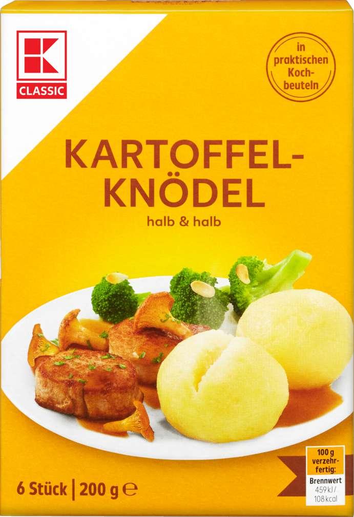 Abbildung des Sortimentsartikels K-Classic Kartoffelknödel halb und halb im Kochbeutel 6 Stück