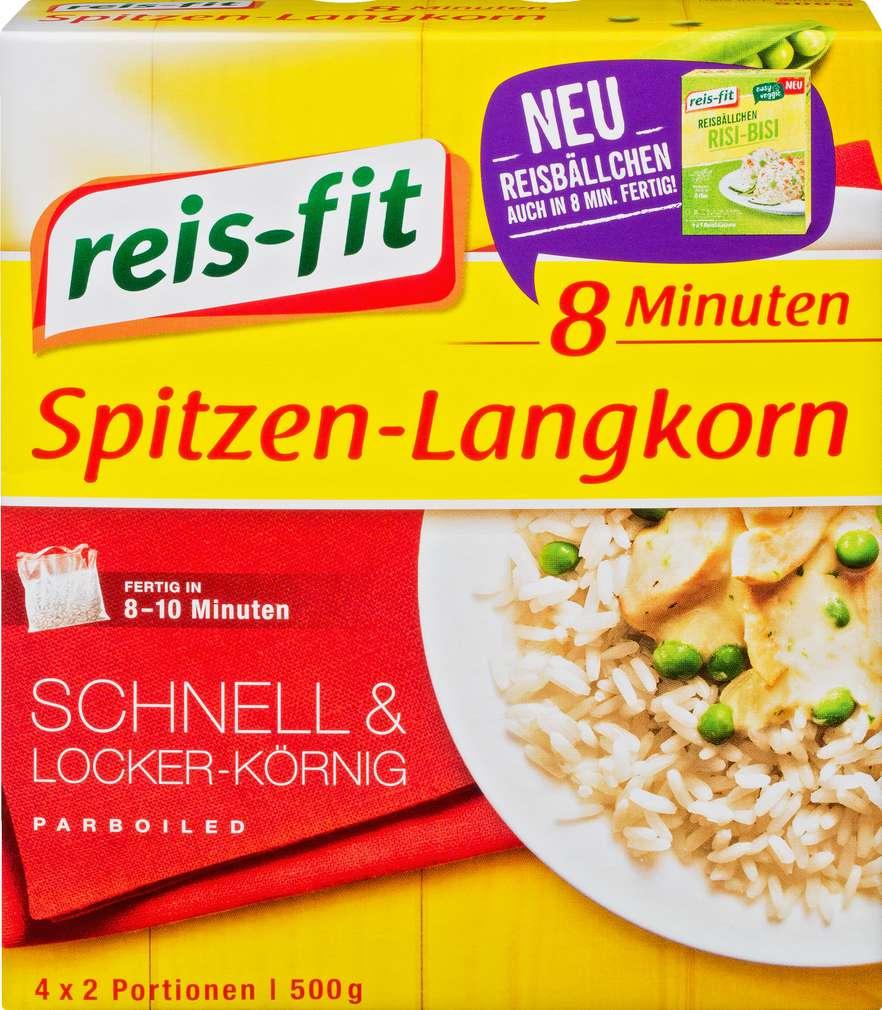 Abbildung des Sortimentsartikels Reis-fit 8 Minuten Spitzen-Langkorn 500g
