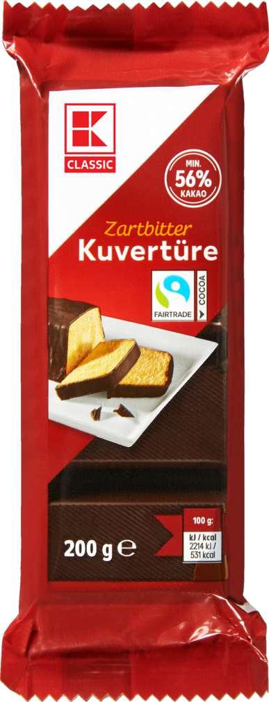 Abbildung des Sortimentsartikels K-Classic Kuvertüre Zartbitter 200g