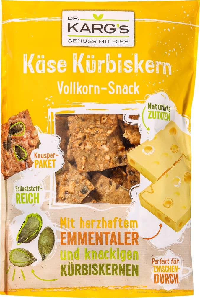 Abbildung des Sortimentsartikels Dr. Karg's Vollkorn-Snack Käse Kürbiskern 110g