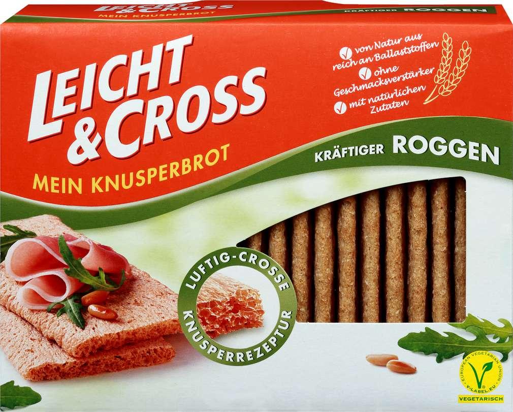 Abbildung des Sortimentsartikels Leicht & Cross Mein Knusperbrot Roggen 125g