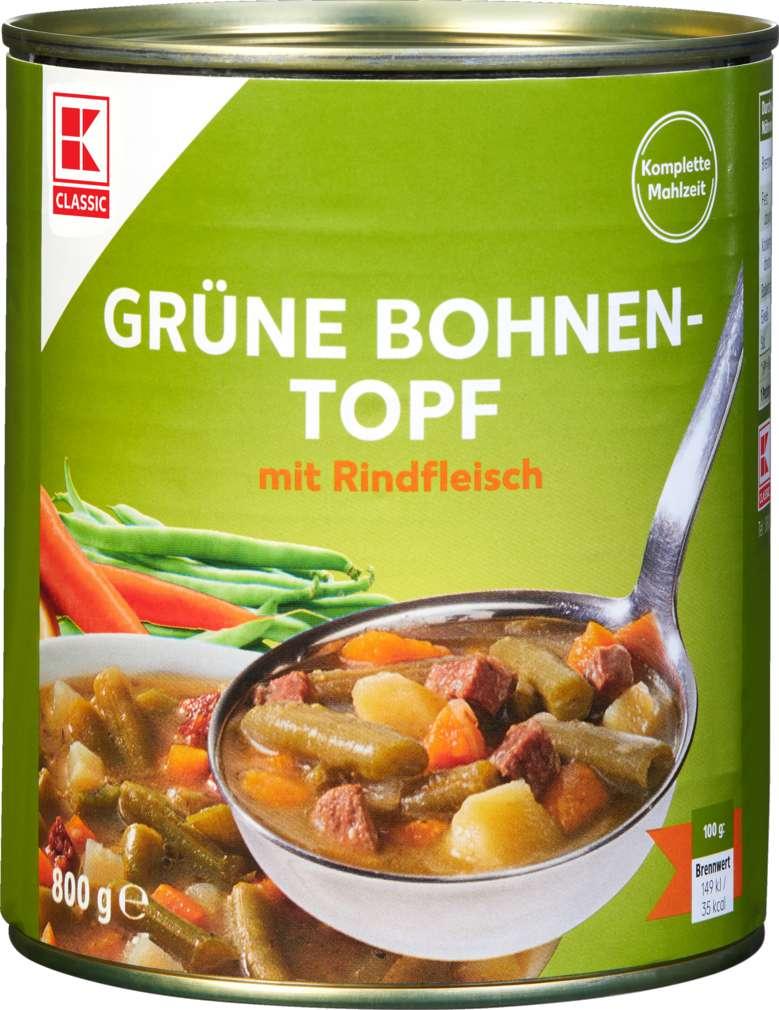 Abbildung des Sortimentsartikels K-Classic Grüner Bohnen-Topf 800g
