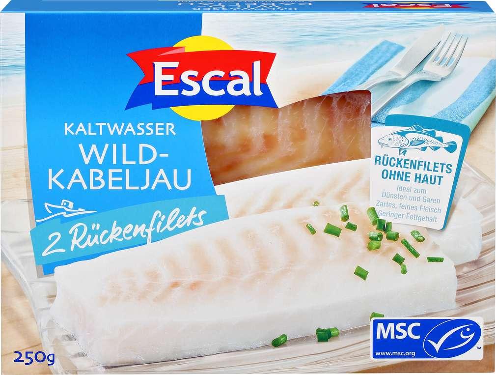 Abbildung des Sortimentsartikels Escal MSC-Wild-Kabeljau- Filet ohne Haut 250g