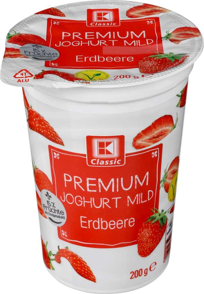 Abbildung des Sortimentsartikels K-Classic Premium Joghurt mild Erdbeere 200g