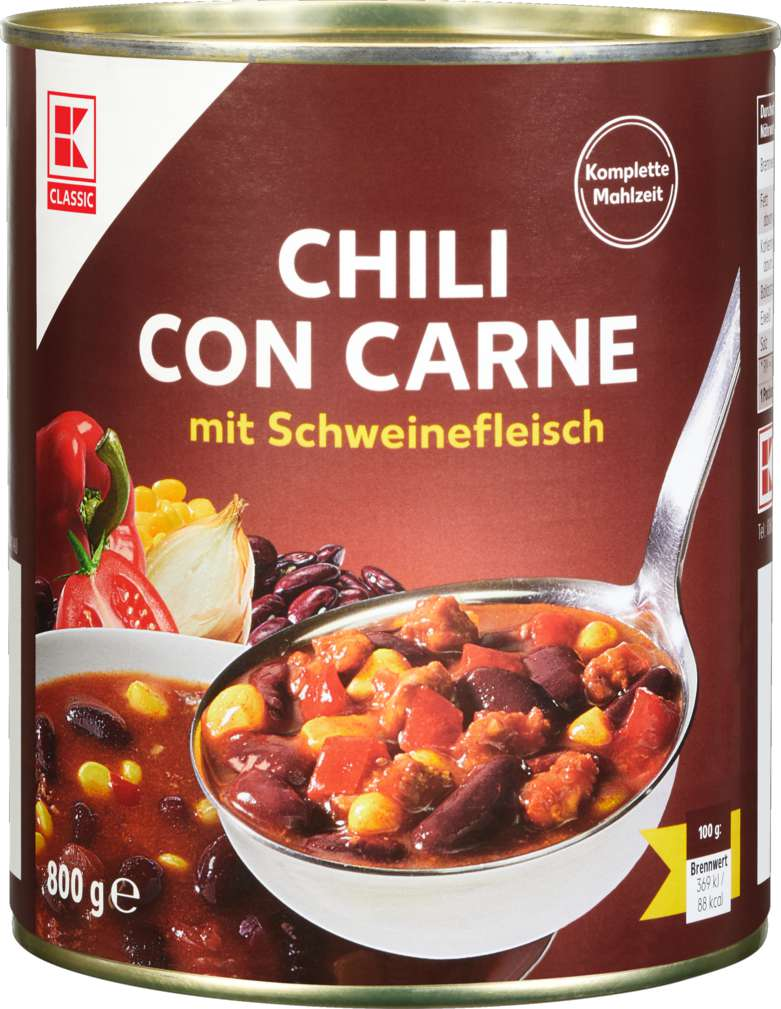 Abbildung des Sortimentsartikels K-Classic Chili con Carne 800g