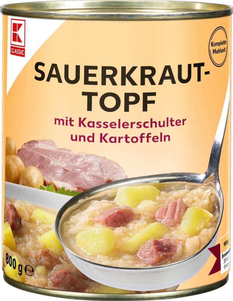 Abbildung des Sortimentsartikels K-Classic Sauerkraut-Topf 800g