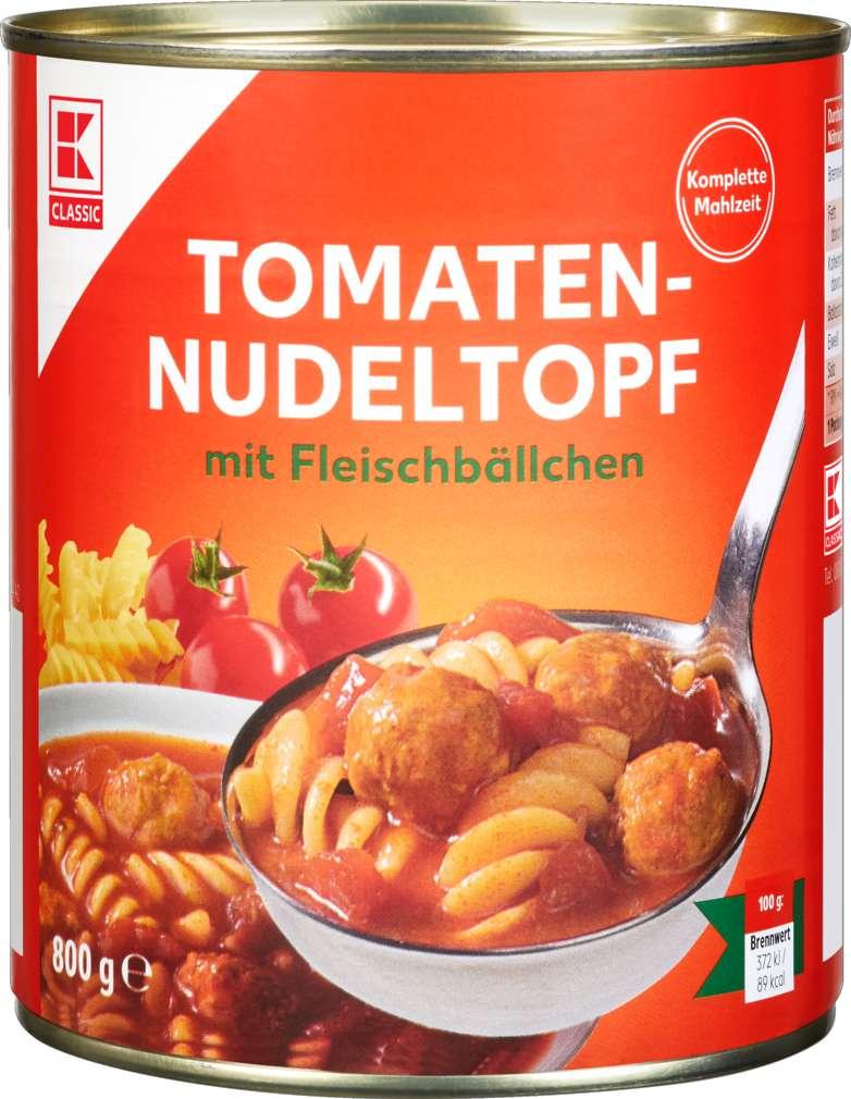 Abbildung des Sortimentsartikels K-Classic Tomaten-Nudeltopf 800g