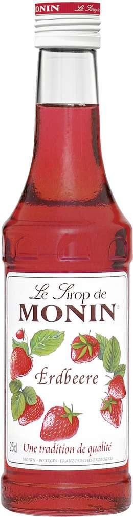 Abbildung des Sortimentsartikels Monin Sirup Erdbeere 0,25l