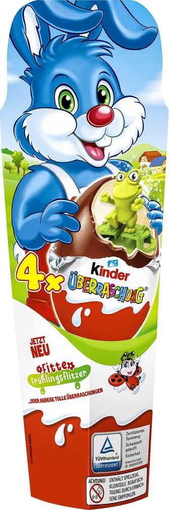 Abbildung des Sortimentsartikels Ferrero Überraschungs-Eier 4er