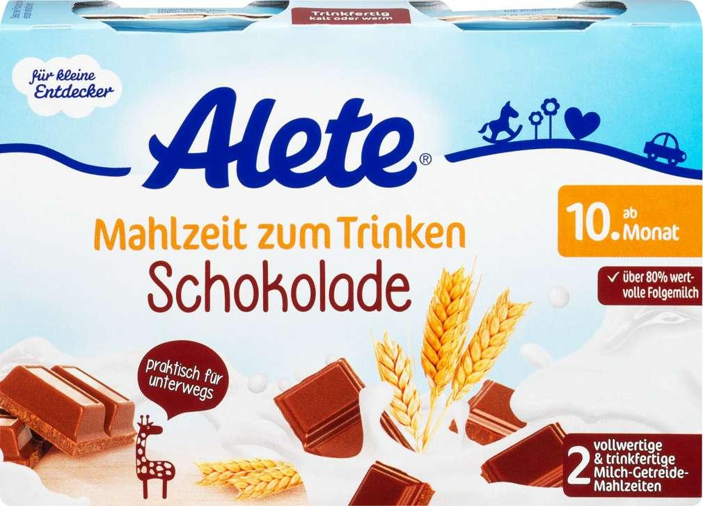Abbildung des Sortimentsartikels Alete Milch-Getreide-Mahlzeit Schoko 2x200ml