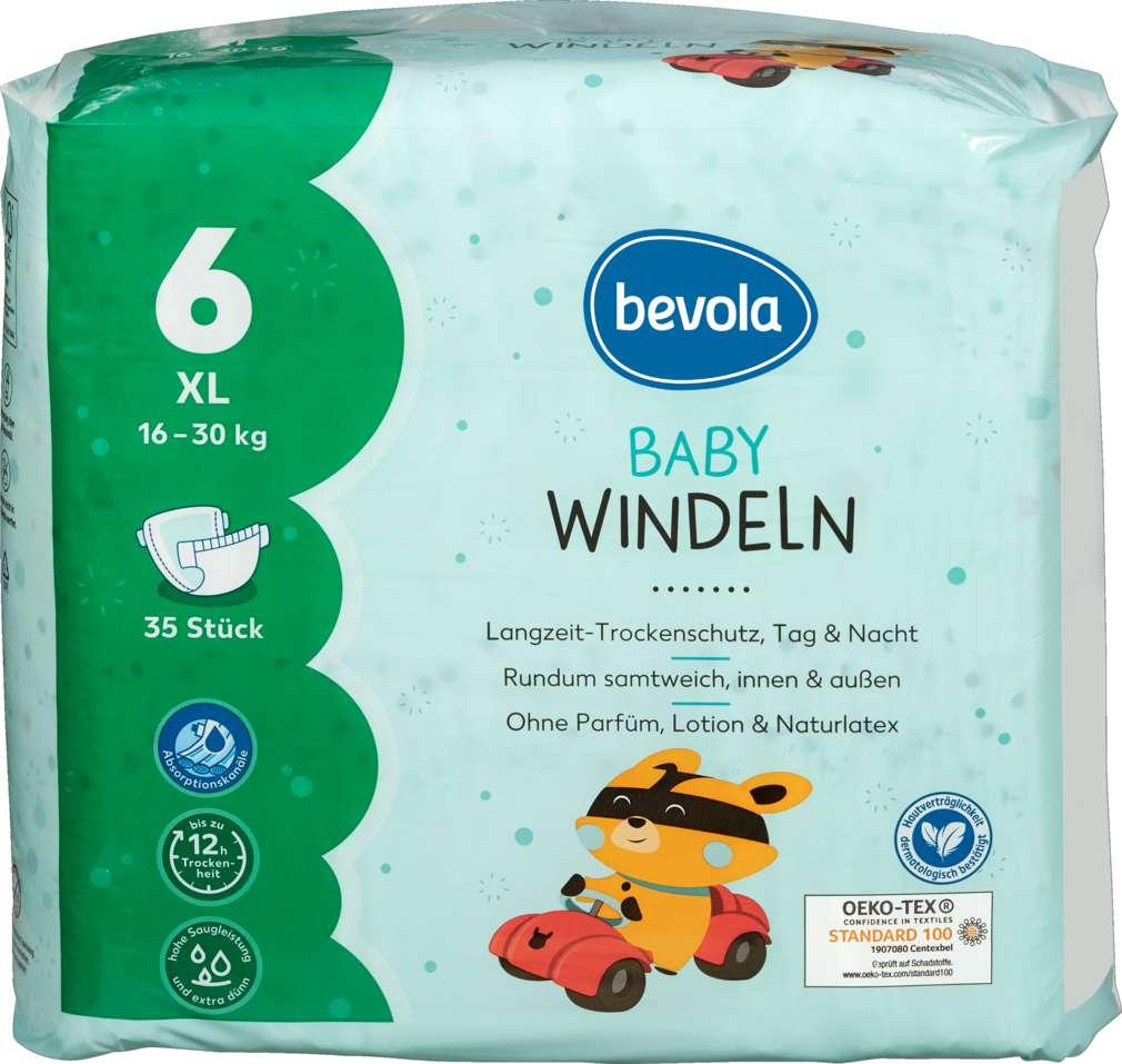 Abbildung des Sortimentsartikels Bevola Baby Windel XL 35 Stück
