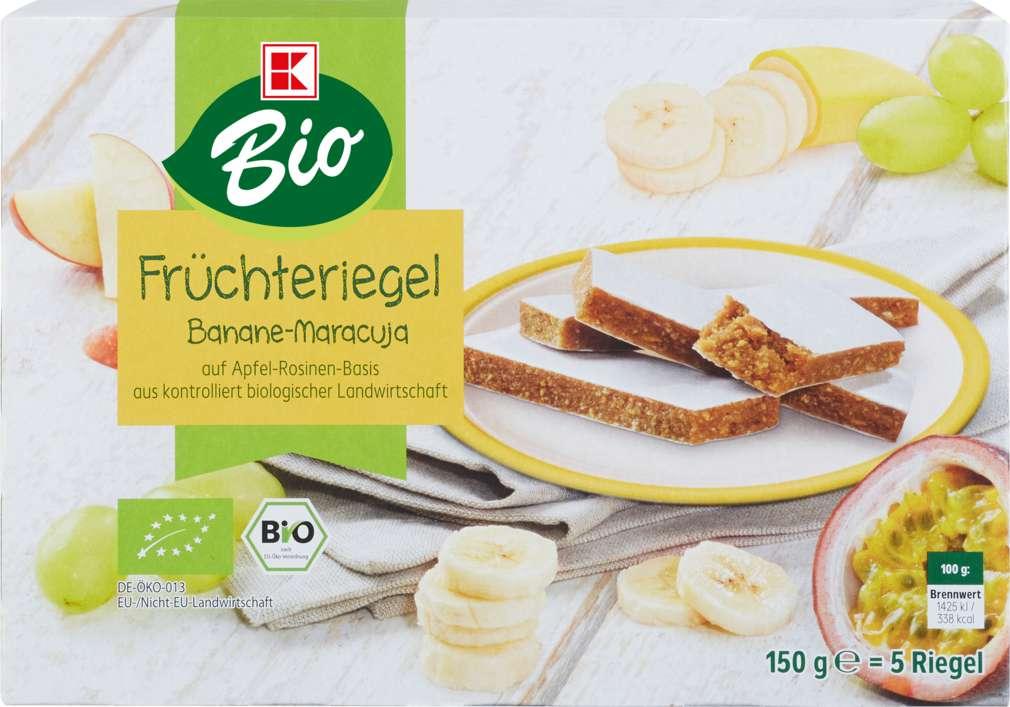 Abbildung des Sortimentsartikels K-Bio Früchteriegel Banane-Maracuja 150g