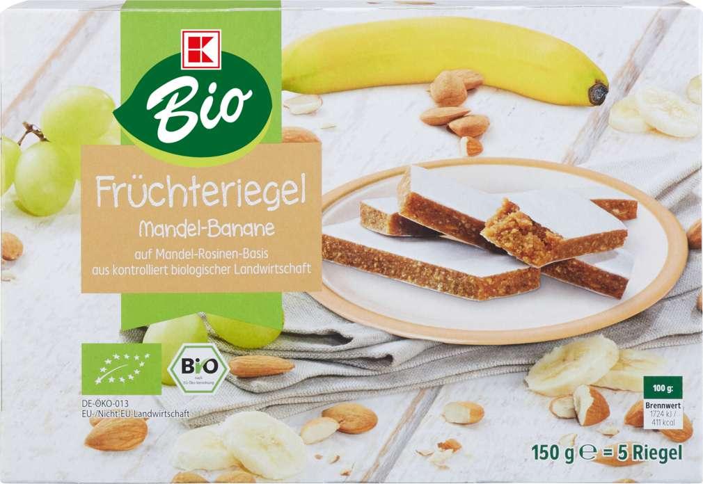 Abbildung des Sortimentsartikels K-Bio Früchteriegel Mandel Banane 150g