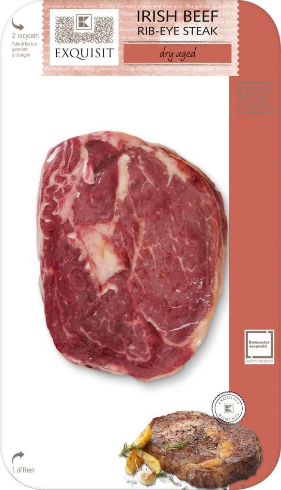 Abbildung des Sortimentsartikels Exquisit Dry Aged Beef Irish Rib Eye Steak 1 Stück