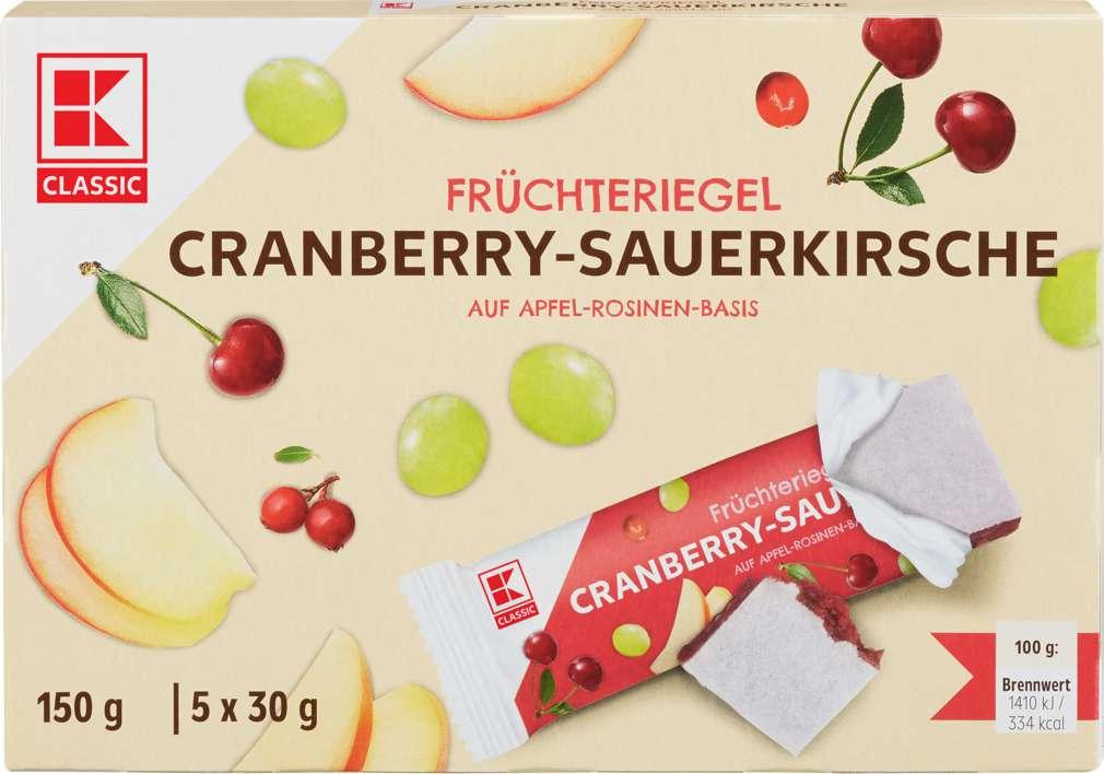 Abbildung des Sortimentsartikels K-Classic Früchteriegel Cranberry-Kirsch 5x30g