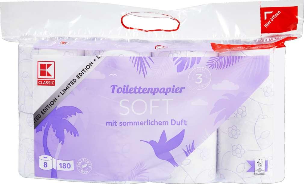 Abbildung des Sortimentsartikels K-Classic Toilettenpapier Soft 3-lg, Limited Edition 8X150 Blatt