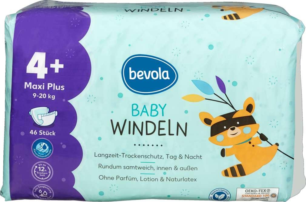 Abbildung des Sortimentsartikels Bevola Baby Windel Maxi Plus 46 Stück