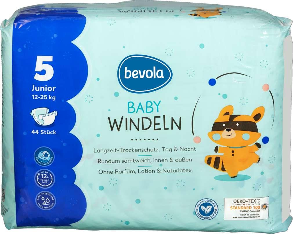 Abbildung des Sortimentsartikels Bevola Baby Windeln Junior 44 Stück