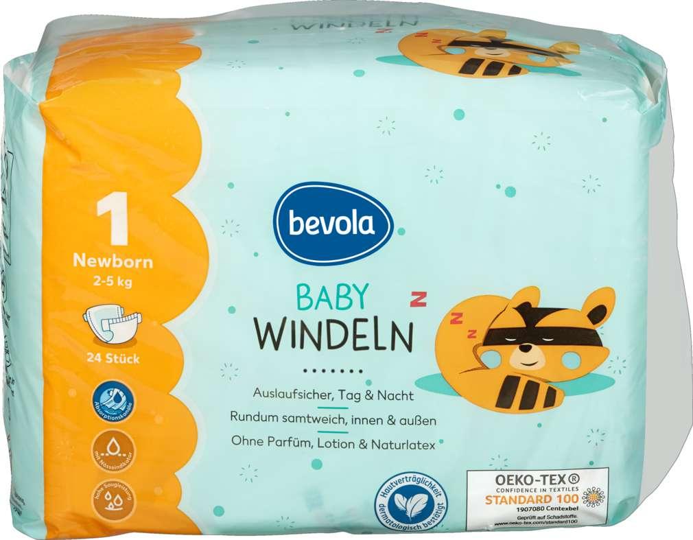 Abbildung des Sortimentsartikels Bevola New Born Baby Windel 24 Stück