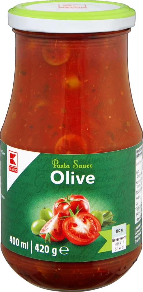 Abbildung des Sortimentsartikels K-Classic Pastasauce Olive 400ml