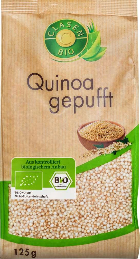 Abbildung des Sortimentsartikels Clasen Bio-Quinoa gepufft, vegan 200g