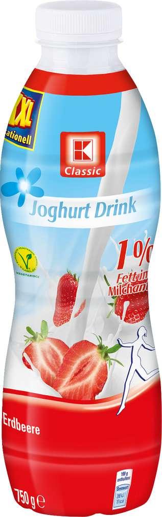 Abbildung des Sortimentsartikels K-Classic Joghurtdrink 1,0% Fett Erdbeere 750g