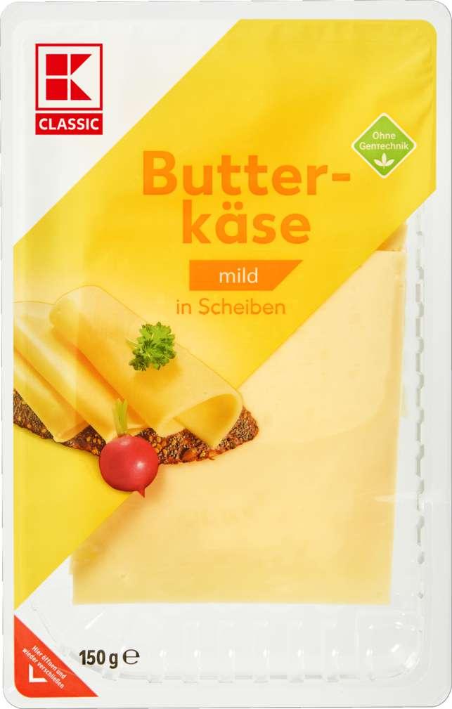 Abbildung des Sortimentsartikels K-Classic Butterkäse in Scheiben 150g