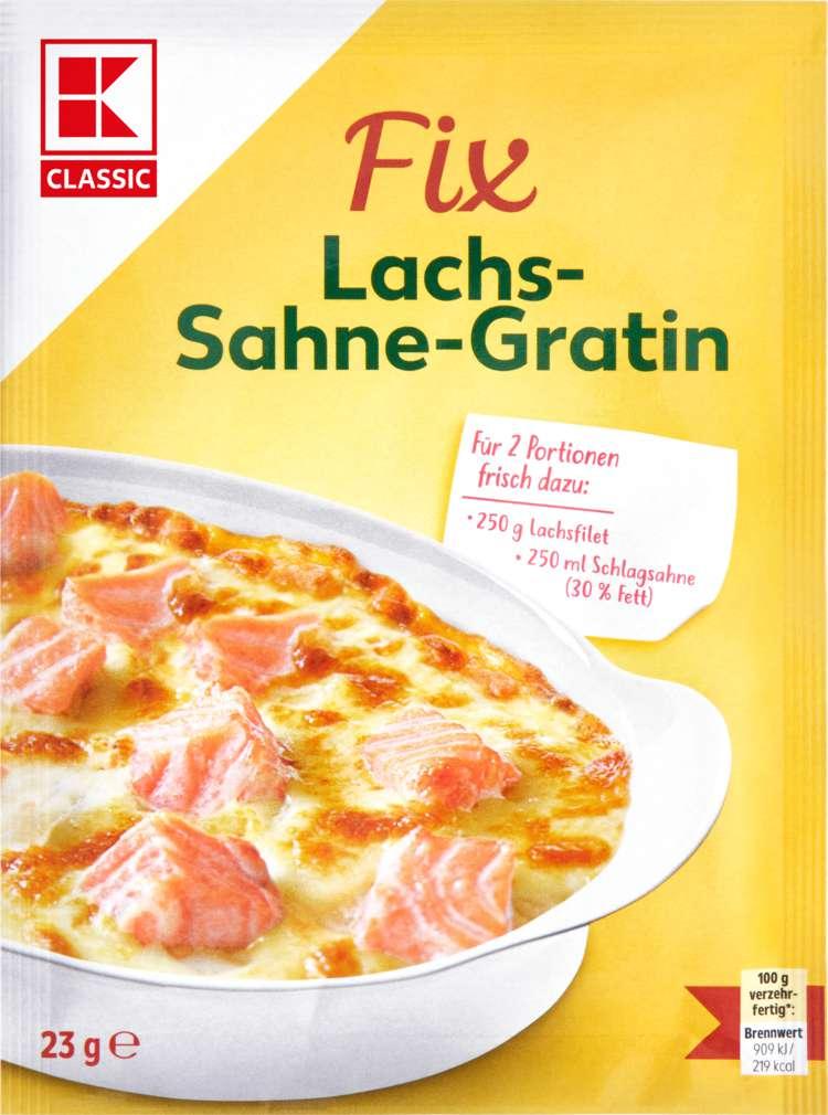Abbildung des Sortimentsartikels K-Classic Fix für Fleischgerichte Lachs-Sahne-Gratin 30g