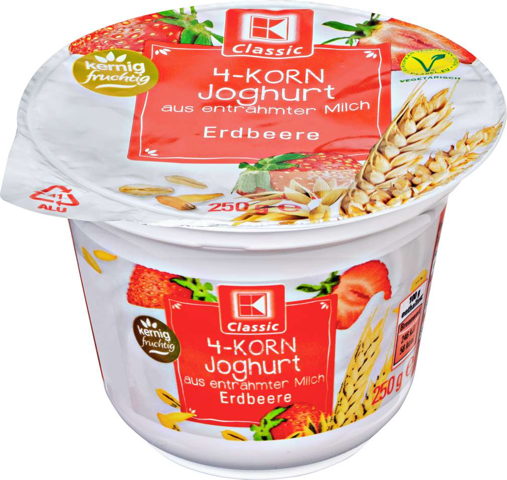 Abbildung des Sortimentsartikels K-Classic 4-Korn Joghurt Erdbeere 250g