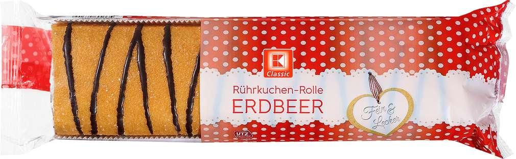 Abbildung des Sortimentsartikels K-Classic Rührkuchenrolle Erdbeer 400g