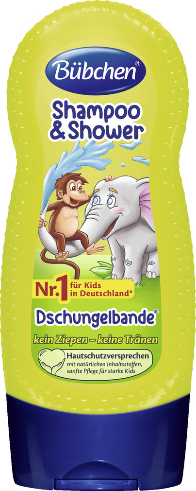 Abbildung des Sortimentsartikels Bübchen Shampoo & Shower Dschungelbande 230ml