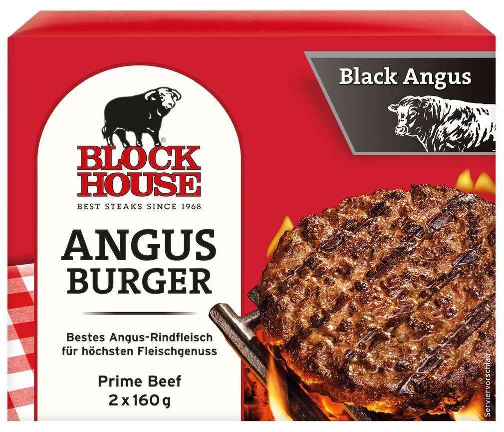 Abbildung des Sortimentsartikels Block House Block Burger Black Angus 320g, 2 Stück