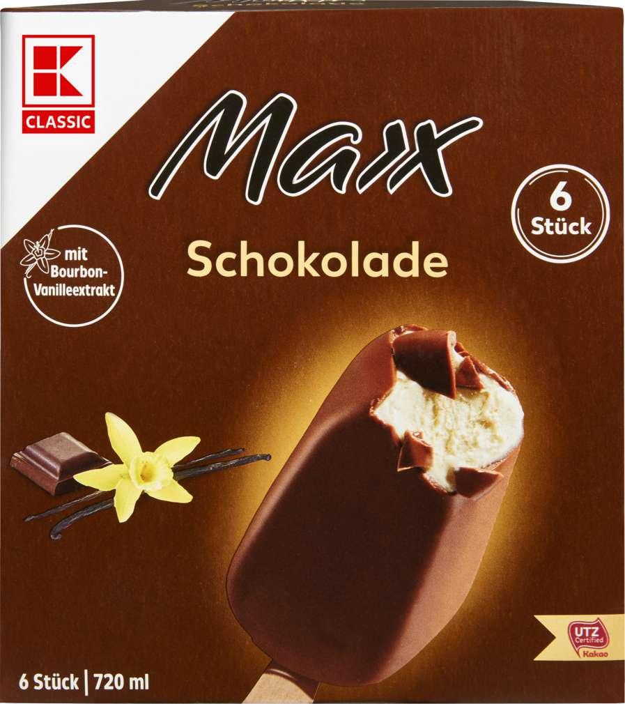 Abbildung des Sortimentsartikels K-Classic Maxx Stieleis Schokolade 720ml, 6 Stück