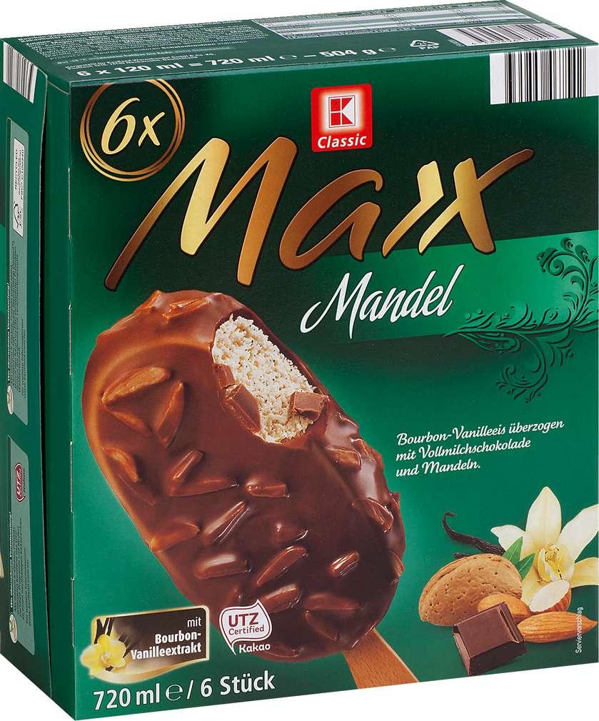 Abbildung des Sortimentsartikels K-Classic Maxx Mandel Eis 6x120ml