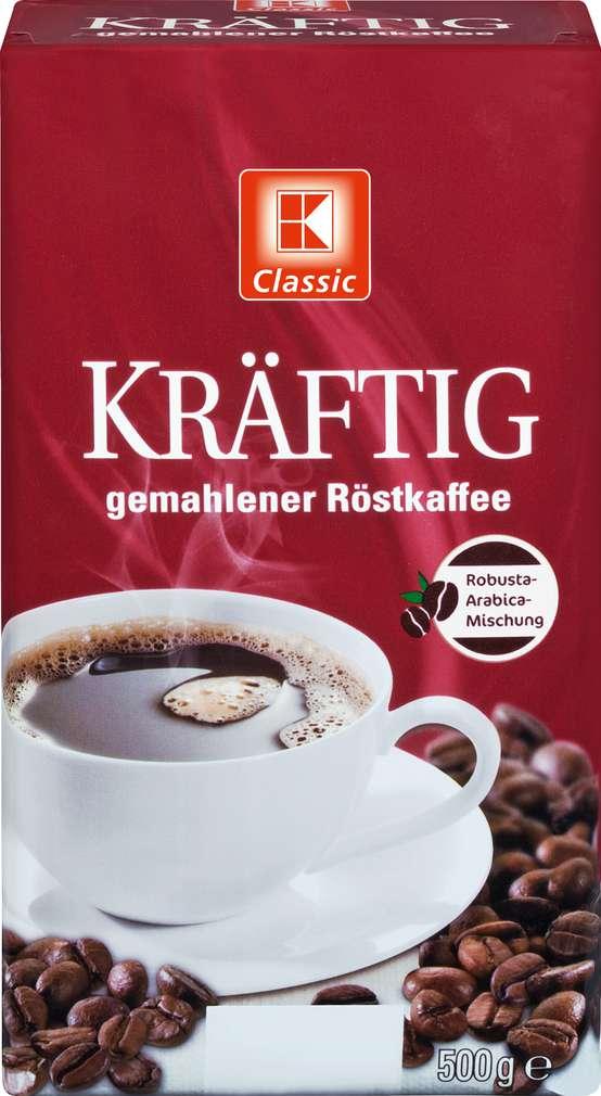 Abbildung des Sortimentsartikels K-Classic gemahlener Röstkaffee 500g