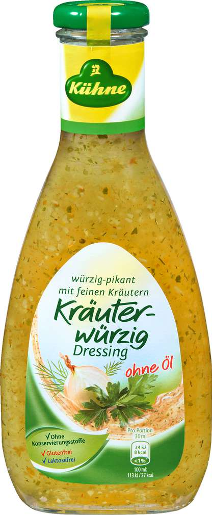 Abbildung des Sortimentsartikels Kühne Kräuterwürzig Dressing 500ml