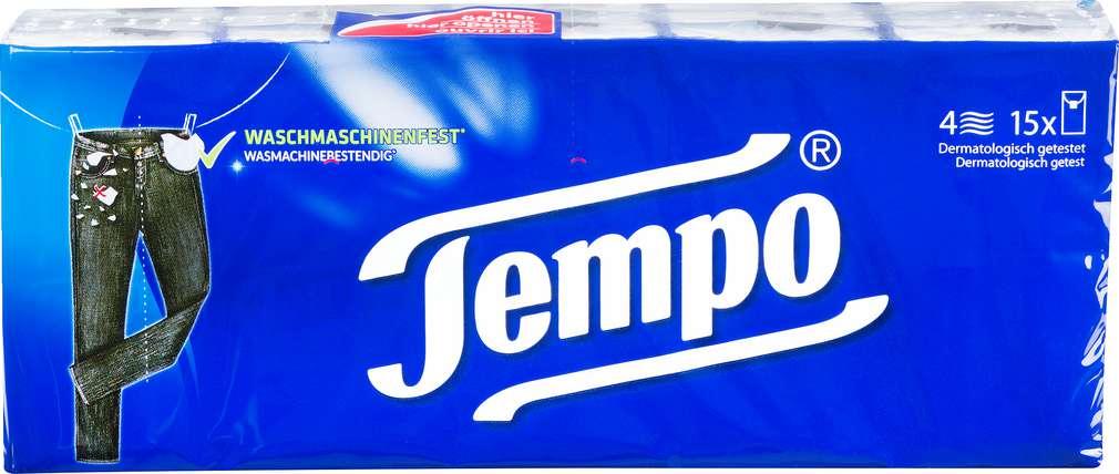 Abbildung des Sortimentsartikels Tempo Taschentücher 15x10 Stück