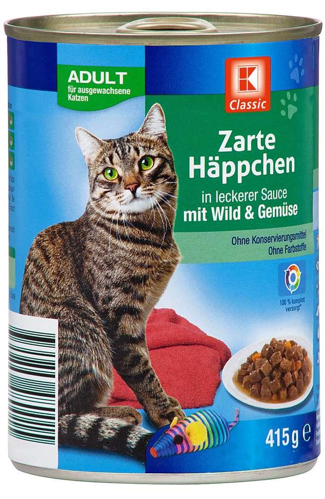 Abbildung des Sortimentsartikels K-Classic Zarte Häppchen mit Wild & Gemüse 415g